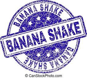 Scratched Textured BANANA SHAKE Stamp Seal