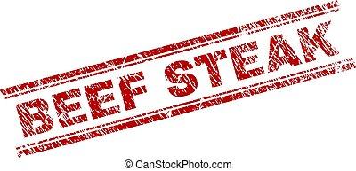 Scratched Textured BEEF STEAK Stamp Seal