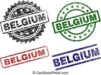 Scratched Textured BELGIUM Seal Stamps