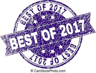 Scratched Textured BEST OF 2017 Stamp Seal
