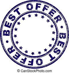 Scratched Textured BEST OFFER Round Stamp Seal