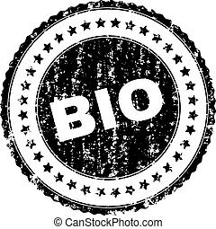 Scratched Textured BIO Stamp Seal