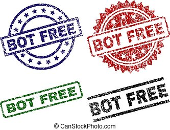 Scratched Textured BOT FREE Stamp Seals