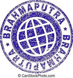 Scratched Textured BRAHMAPUTRA Stamp Seal - BRAHMAPUTRA...
