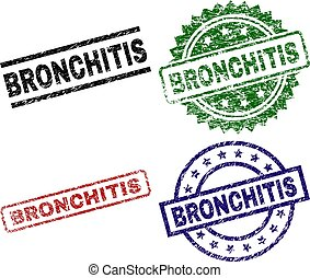 Scratched Textured BRONCHITIS Seal Stamps