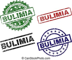 Scratched Textured BULIMIA Seal Stamps