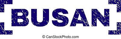 Scratched Textured BUSAN Stamp Seal Between Corners - BUSAN...