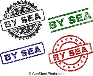 Scratched Textured BY SEA Stamp Seals