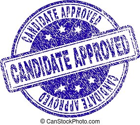Scratched Textured CANDIDATE APPROVED Stamp Seal