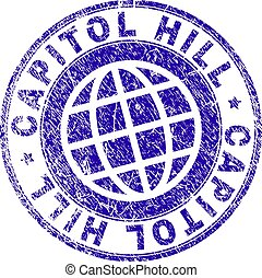 Scratched Textured CAPITOL HILL Stamp Seal - CAPITOL HILL...
