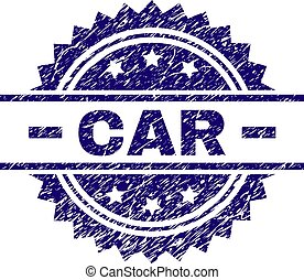 Scratched Textured CAR Stamp Seal