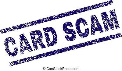Scratched Textured CARD SCAM Stamp Seal