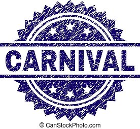 Scratched Textured CARNIVAL Stamp Seal