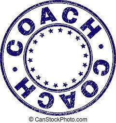 Scratched Textured COACH Round Stamp Seal