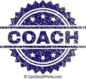 Scratched Textured COACH Stamp Seal