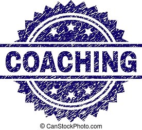 Scratched Textured COACHING Stamp Seal