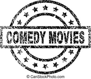 Scratched Textured COMEDY MOVIES Stamp Seal