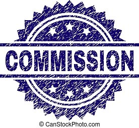 Scratched Textured COMMISSION Stamp Seal - COMMISSION stamp...