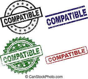 Scratched Textured COMPATIBLE Stamp Seals - COMPATIBLE seal ...