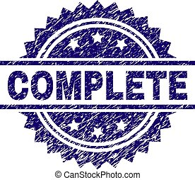 Scratched Textured COMPLETE Stamp Seal - COMPLETE stamp seal...