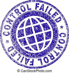 Scratched Textured CONTROL FAILED Stamp Seal - CONTROL...
