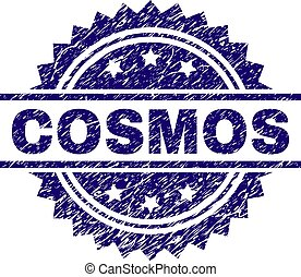 Scratched Textured COSMOS Stamp Seal