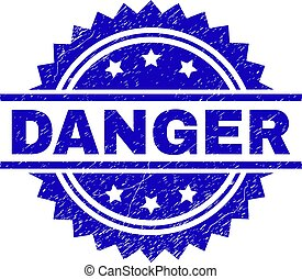 Scratched Textured DANGER Stamp Seal