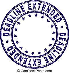 Scratched Textured DEADLINE EXTENDED Round Stamp Seal