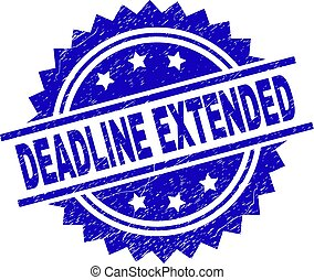 Scratched Textured DEADLINE EXTENDED Stamp Seal