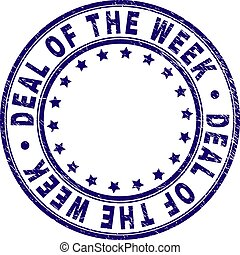 Scratched Textured DEAL OF THE WEEK Round Stamp Seal