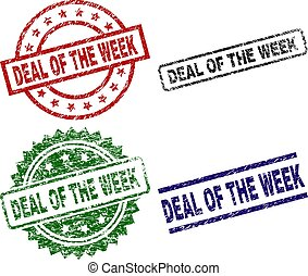 Scratched Textured DEAL OF THE WEEK Stamp Seals