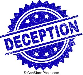 Scratched Textured DECEPTION Stamp Seal - DECEPTION stamp...