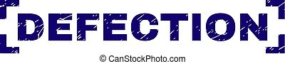 Scratched Textured DEFECTION Stamp Seal Between Corners -...