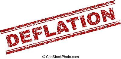 Scratched Textured DEFLATION Stamp Seal - DEFLATION seal...