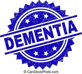 Scratched Textured DEMENTIA Stamp Seal - DEMENTIA stamp seal...