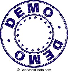 Scratched Textured DEMO Round Stamp Seal