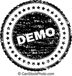 Scratched Textured DEMO Stamp Seal