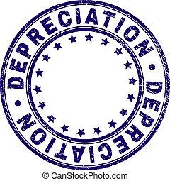 Scratched Textured DEPRECIATION Round Stamp Seal