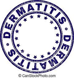 Scratched Textured DERMATITIS Round Stamp Seal - DERMATITIS...