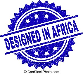 Scratched Textured DESIGNED IN AFRICA Stamp Seal