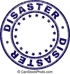 Scratched Textured DISASTER Round Stamp Seal - DISASTER...