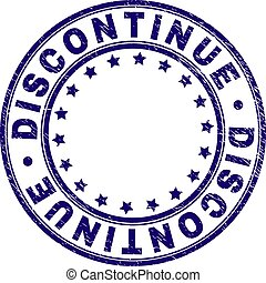 Scratched Textured DISCONTINUE Round Stamp Seal -...