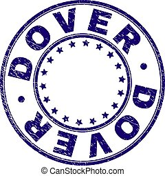 Scratched Textured DOVER Round Stamp Seal