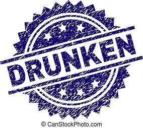 Scratched Textured DRUNKEN Stamp Seal