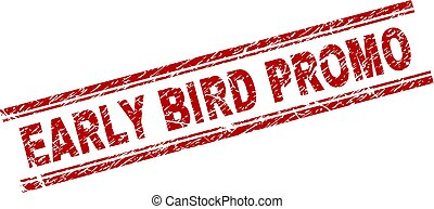Scratched Textured EARLY BIRD PROMO Stamp Seal