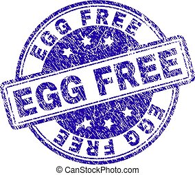 Scratched Textured EGG FREE Stamp Seal