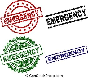 Scratched Textured EMERGENCY Seal Stamps