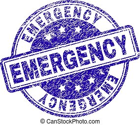 Scratched Textured EMERGENCY Stamp Seal