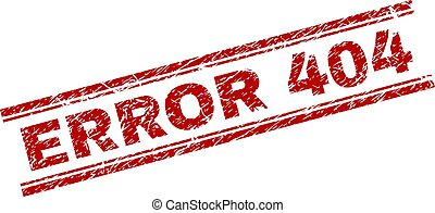 Scratched Textured ERROR 404 Stamp Seal