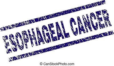 Scratched Textured ESOPHAGEAL CANCER Stamp Seal